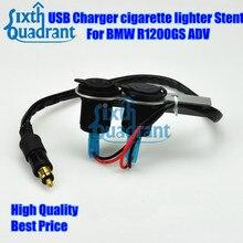 Бесплатная Доставка Мотоцикл USB Зарядное Устройство Прикуривателя Стент для BMW R1200GS adv с водяным охлаждением пользовательские