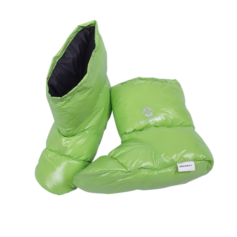 Perfeclan Unisex Cotton Duvet Duck Down Slippers Boots Soft Warm Feet Cover for Camping Tent Sleeping Bag Footwear