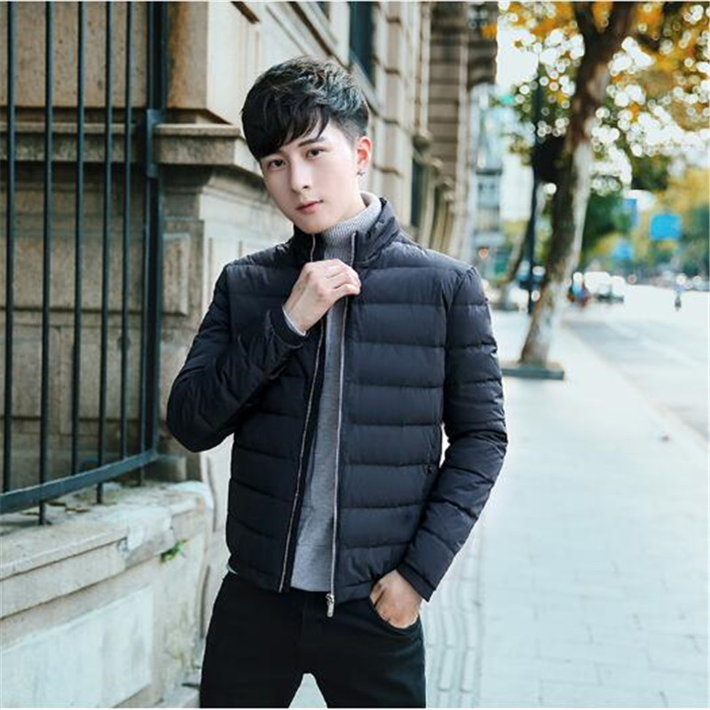 2018 winter men's Stand collar ultra-light slim duck down jackets keep warm Breathable windproof waterproof soft down coats