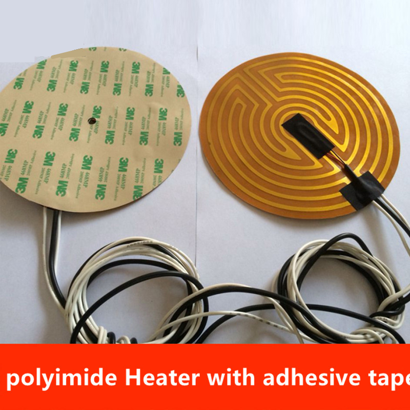 Office Electronics 3d Printer Parts & Accessories Responsible 12v/24v 160/180/190/220/240/260/300/500mm Diameter Round Polyimide Heater Bed Heater With Adhesive Tape For 3d Printer 100% Guarantee