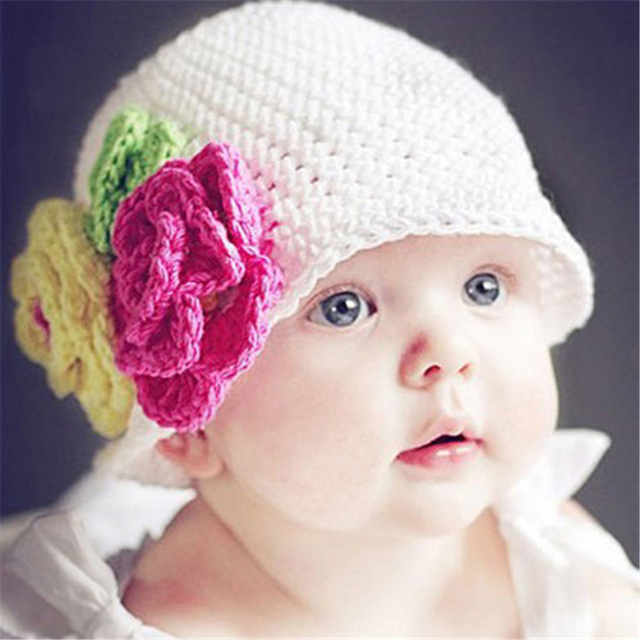Hot sale lovely baby hats and cap baby boy winter hat crochet beanie kids hats baby