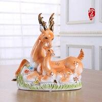 Современный минималистский Творческий керамическая пятнистого оленя животное украшения мода украшения дома гостиная ремесла керамика св