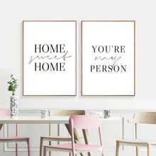 Home Wall Art Canvas Painting Simple Quote Print Poster Printable Pictures