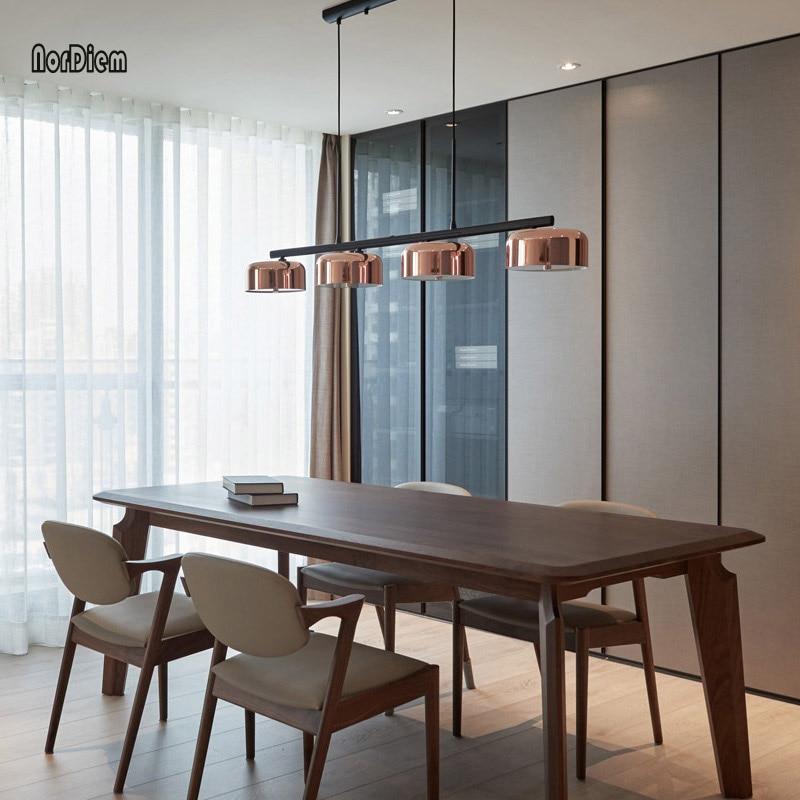 Moderno CONDUZIU a Lâmpada de Luz para sala De Jantar 4 Luzes do candelabro de Ouro Rotativo Ferro Lustres de Teto para Cozinha Sala de estar