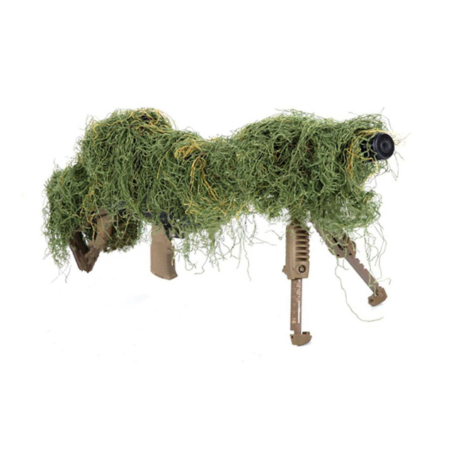 Hunting Ghillie Suits Camouflage Strip Gun Rope Elastic Synthetic Fiber Camo Ghillie Suits Gun Hidden Strip Hunting Accessories