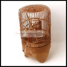 1 PCS 24cm Ordinary old bamboo prince bird cage Acacia embroidered eye white jade small black and