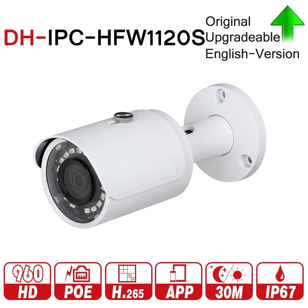 DH IPC-HFW1120S Mit Logo Ursprüngliche Kugel Kamera 1.3mp Netzwerk IP Kamera Unterstützung Smartphone Betrachten PoE CCTV Kamera