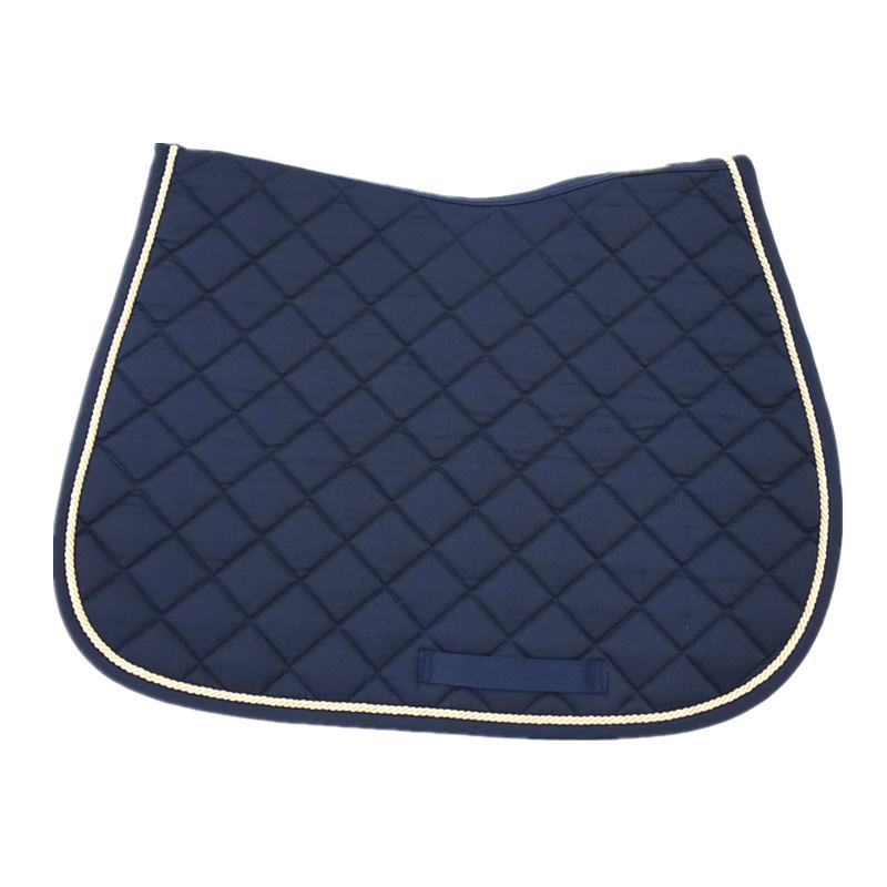Horse Saddle Pad Blue   Saddle Cushion High Quality Quilted Cotton Shock Absorption  Pad