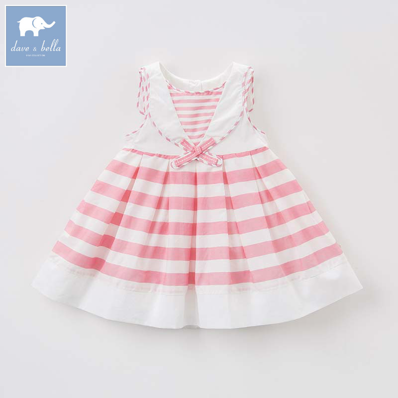 Dave bella summer baby dress children lolita sleeveless clothes toddler clothing for girls kids party wedding dresses DB7198