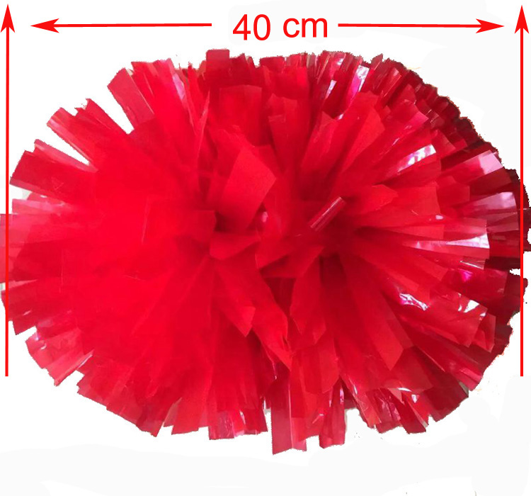 Red sports pompoms (2pieces/lot) 40CM Cheers pompon with middle plastic handle Color can free combination