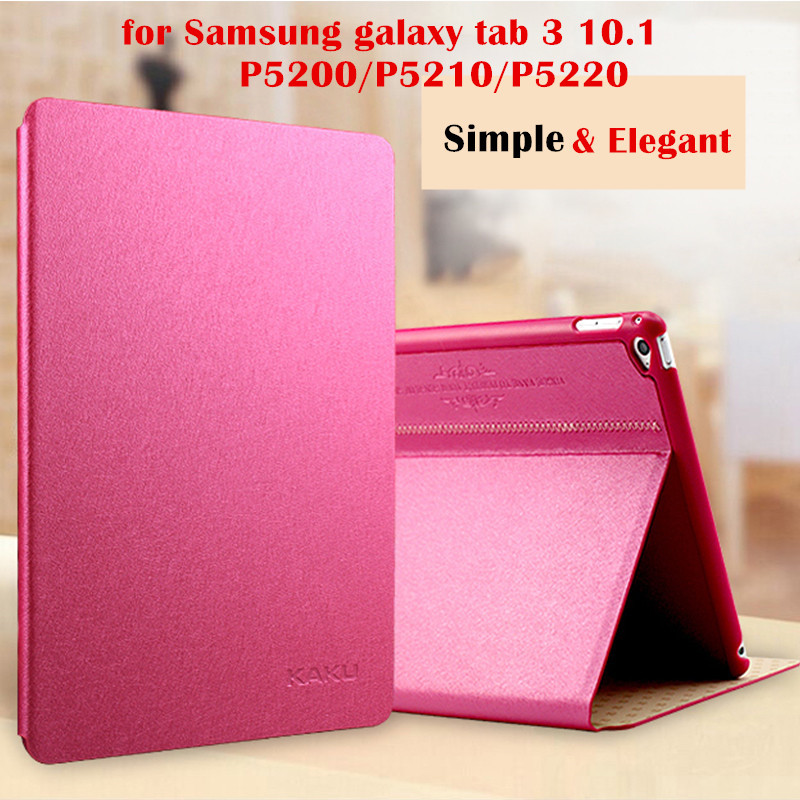 KAKU Magnet Smart Cover for Samsung galaxy tab 3 10.1 P5200/P5210/P5220 10.1 inch tablet case Flip Cover Protective shell bag pu leather case cover for samsung galaxy tab 3 10 1 p5200 p5210 p5220 tablet