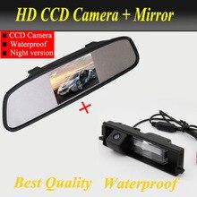 Для CCD Chery Tiggo / toyota rav4 специальная камера заднего вида обратной парковочная камера с 4.3 дюймов автомобиль зеркало заднего вида монитор