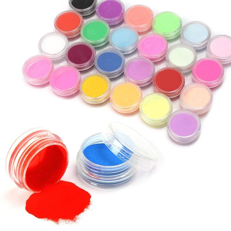 Nail art acrylic colors : Nail powder colors acrylic art tips uv gel