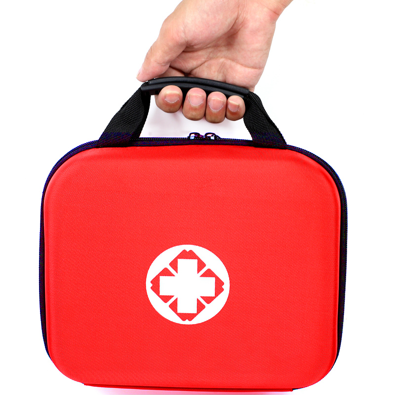 Handy Empty First Aid Bag EVA Hard Red Medical Case Emergency Kit Compact Lightweight For Home Health Responder Camping Outdoors