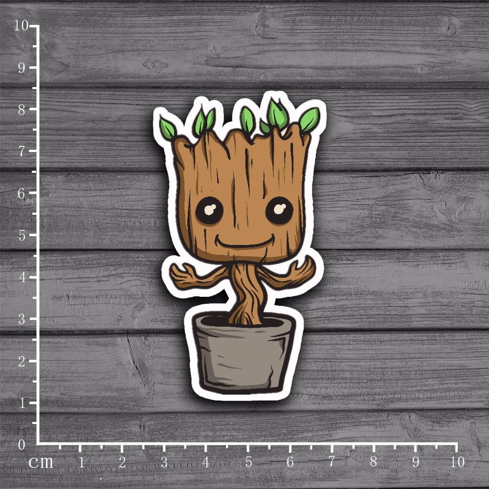 Marvel's The Avengers Groot Stationery Graffiti Sticker Decor For Ablum Diary Scrapbookin Laptop Stickers For Kids Toy[Single]