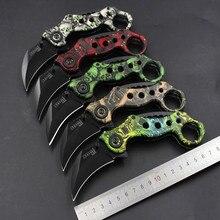 Nueva 5 colores garra escorpión acampar al aire libre cuchillo de supervivencia en la selva cs ir plegable táctico del cuchillo de caza cuchillos karambit de batalla