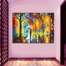 100% Modern abstract palette knife oil painting on the wall art set picture canvas painting romantic love pictures home decor