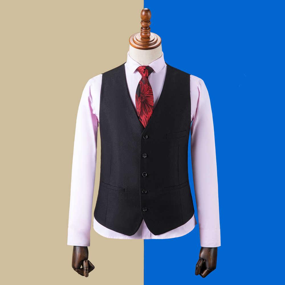OSCN7 2019 Plaid sur mesure costumes hommes Slim Fit fête de mariage hommes sur mesure costume mode 3 pièce Blazer pantalon gilet ZM-573