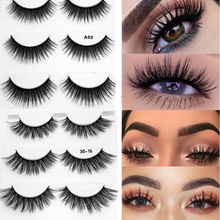 3 Pairs 9 Styles 3D Faux Mink Hair Soft False Eyelashes Fluffy Wispy Thick Lashes Handmade Eye Makeup Extension Tools