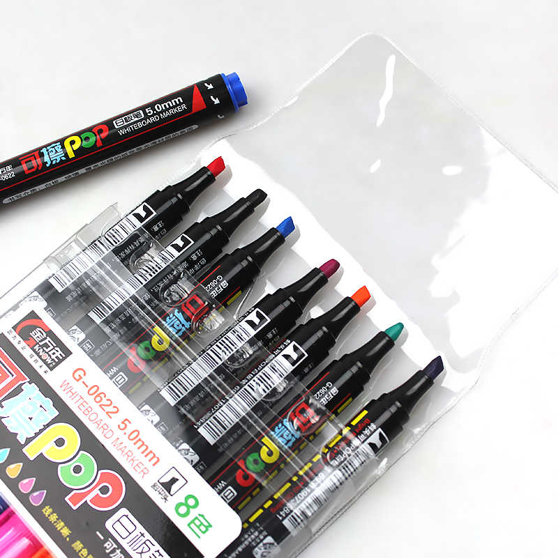 KNOW POP Art Marker 8 Colors/Set 5 mm Repeated Filling Ink Marker Set Best For Manga Poster Advertising Supplies