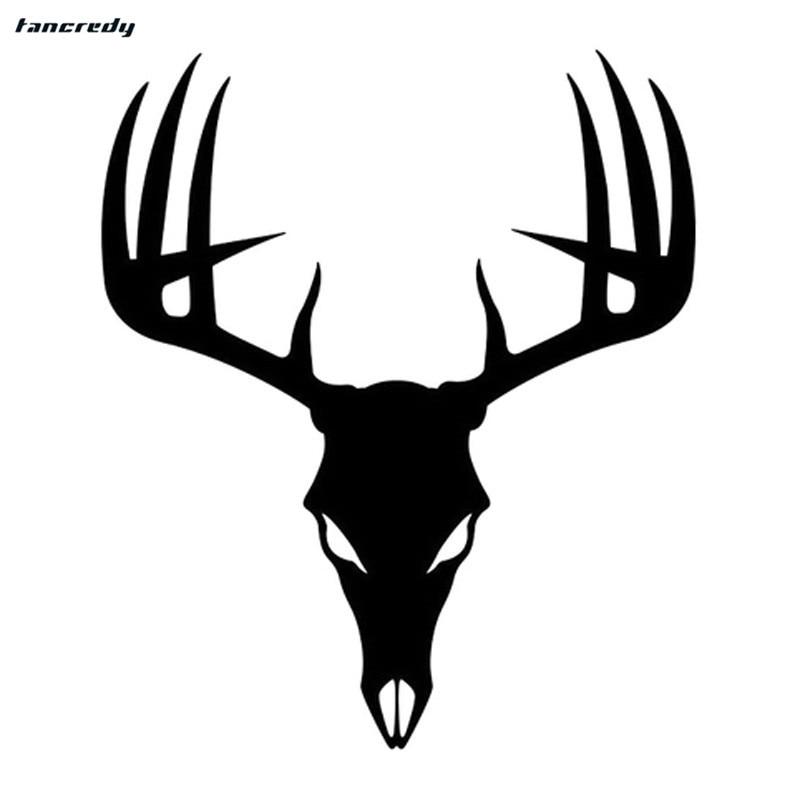 3D funny Buck Deer Skull Car Stickers 15*17.8cm Fashion ...