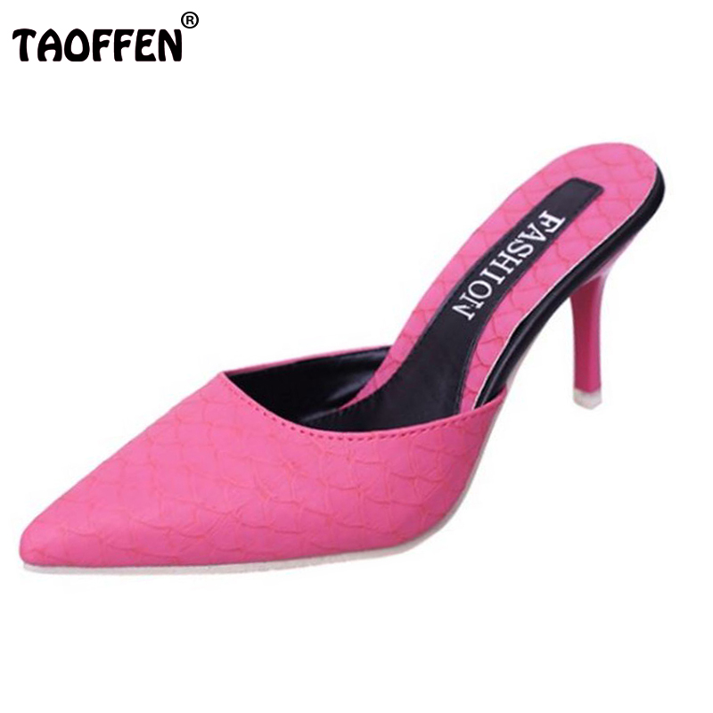 5 Colors Women High Heels Sandals Pointed Toe Thin Heel Shoes Sexy Slingbacks Slippers Sample Full Match Footwear Size 35-40