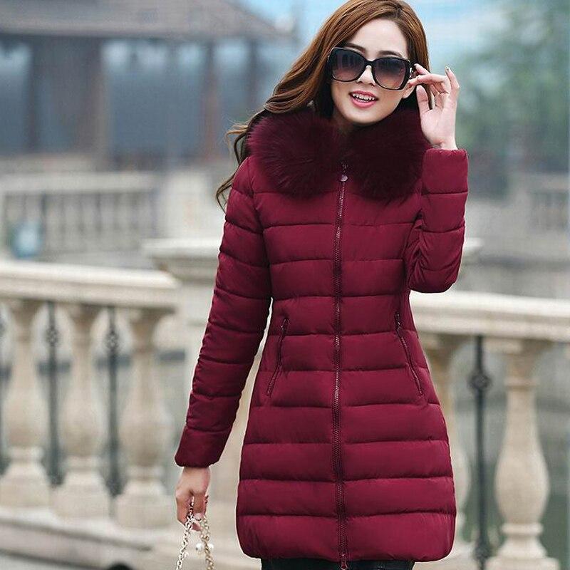 7ccd9e40726 TIGENA Plus Size 4XL Long Winter Jacket Coat Women Parka 2018 Fur Collar  Hooded Thick Warm Winter Jacket Coat Female Parka Femme-in Parkas from  Women s ...