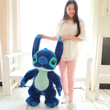 large lovely plush dark blue Stitch toy big creative standing stitch doll gift about 130cm
