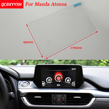 Car Sticker Steel 8 7 Inch GPS Navigation Screen Steel Protective Film For Mazda Atenza Control of LCD Screen Car Styling