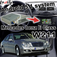 Android GPS navigation box video interface for Mercedes-benz E Class W211 cast screen waze youtube wifi bluetooth