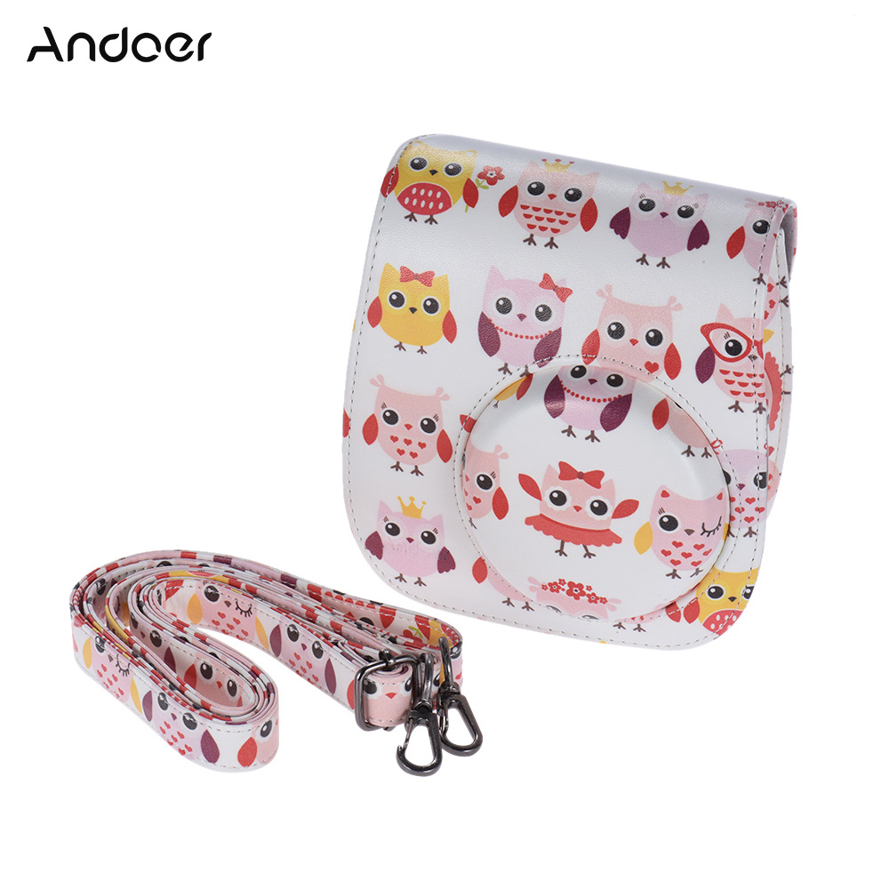 andoer pu camera bag protective case pouch for fujifilm instax mini 8 8s 8 in camera video bags. Black Bedroom Furniture Sets. Home Design Ideas