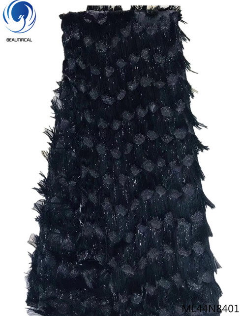 Beautifical french lace fabrics 2019 Fashion stely shiny lace fabric african fabrics dress bling women dresses 5yards ML44N84