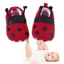Bayi Lembut Bersol Sepatu Merah Kartun Ladybug Pola Sepatu Bayi untuk Bayi  Baru Lahir Elastis Band Lembut Pertama Walker Musim D.. 9eb3efe829