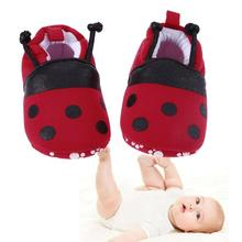 Infant Soft Soled Footwear Cartoon Red Ladybug Pattern Baby Shoes