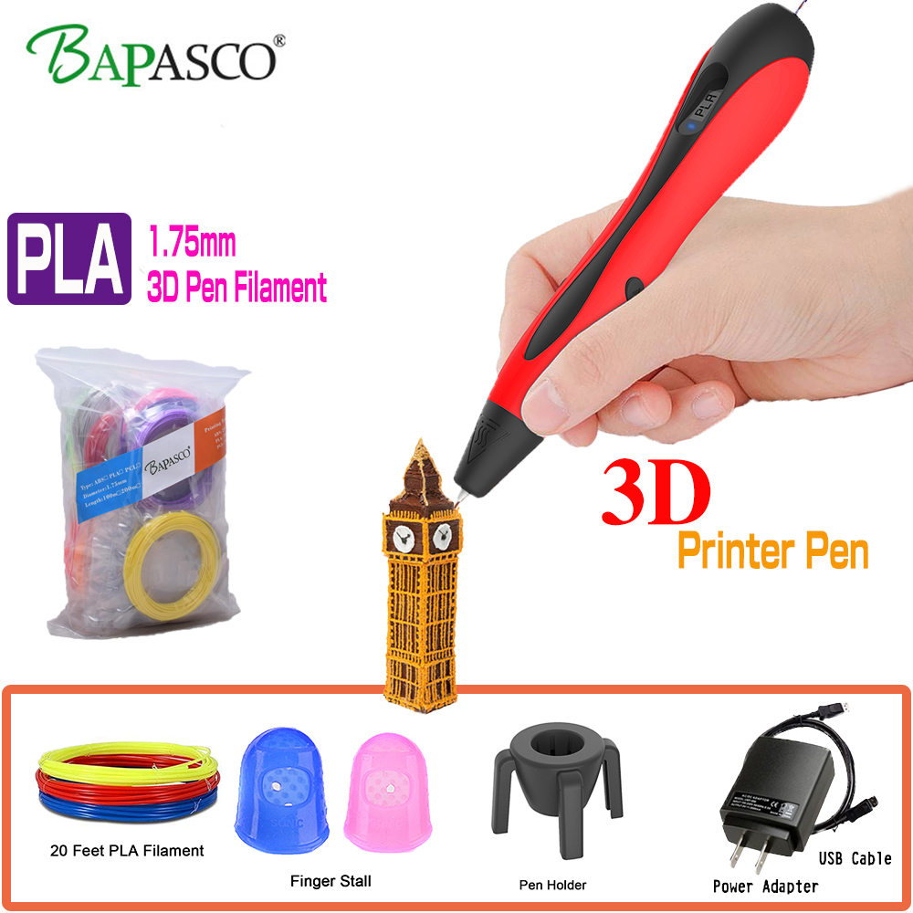 Newest BAPASCO Printing Pen 3D High Quality 3D Pen New Version 3D Drawing Pen+100M 1.75MM PLA Filament for Kids Adult Art Gift шины michelin x ice xi3 235 50 r18 101h xl