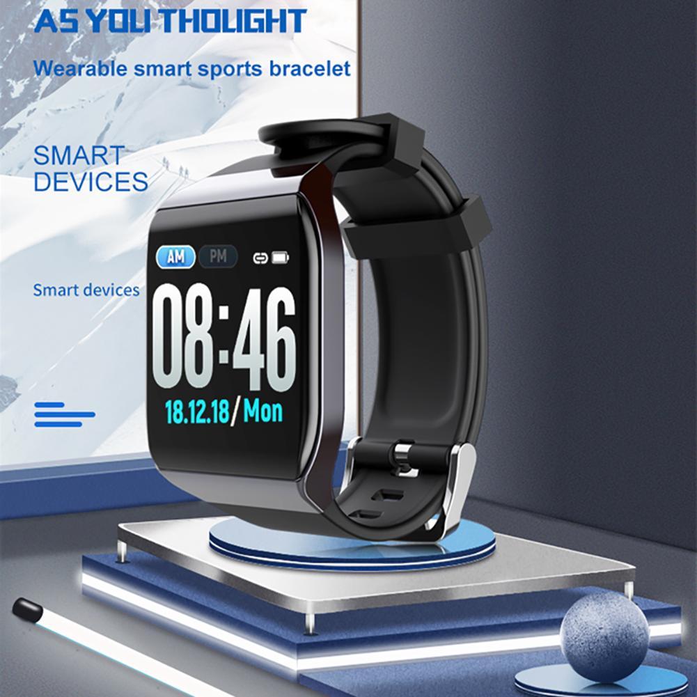 KY117 Smart Wristband Fitness Tracker IP68 Waterproof Heart Rate Blood Pressure Monitor Multifunctional Sports Smartband