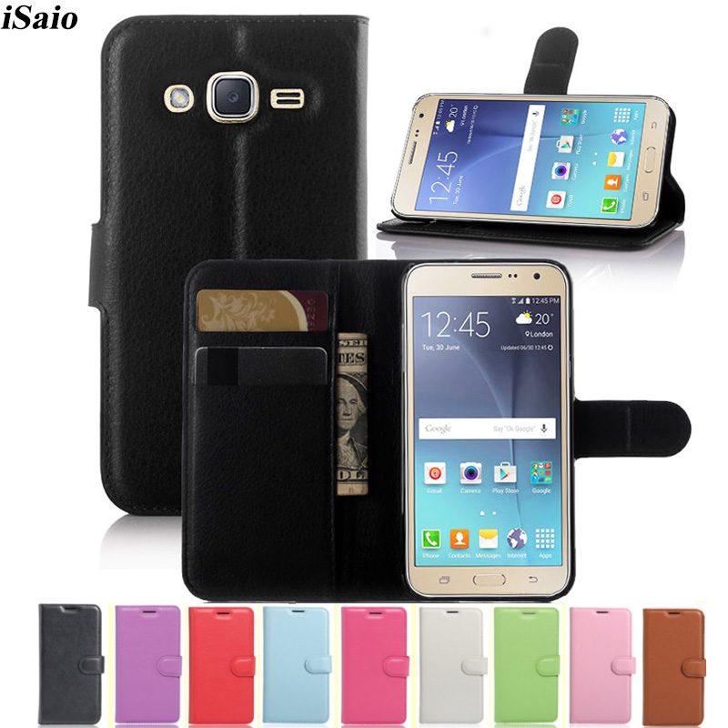 Wallet <font><b>Case</b></font> For <font><b>Samsung</b></font> <font><b>Galaxy</b></font> J2 2015 <font><b>J200</b></font> J200G J200Y J200F J200H J200M Flip Leather Cover for <font><b>Samsung</b></font> <font><b>Galaxy</b></font> <font><b>J200</b></font> Bumper <font><b>Case</b></font> image