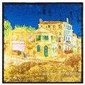 60 cm * 60 cm Europa y los Estados Unidos edificio castillo pintura al óleo pintura clásica de seda de imitación de seda pequeña bufanda cuadrada