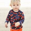 Marca de Moda Para Niños Ropa de Otoño de Moda Lindo Niños T Diseñador de la Camisa Del Niño de Los Bebés Ropa de Algodón de Manga Larga T-shirt
