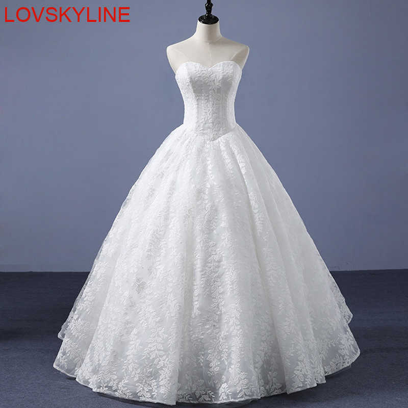 Luxury Ball Gown Full Embroidery Lace Wedding Dress Sexy Sweetheart Vestido  De Noiva High Quality China 66d092f44120