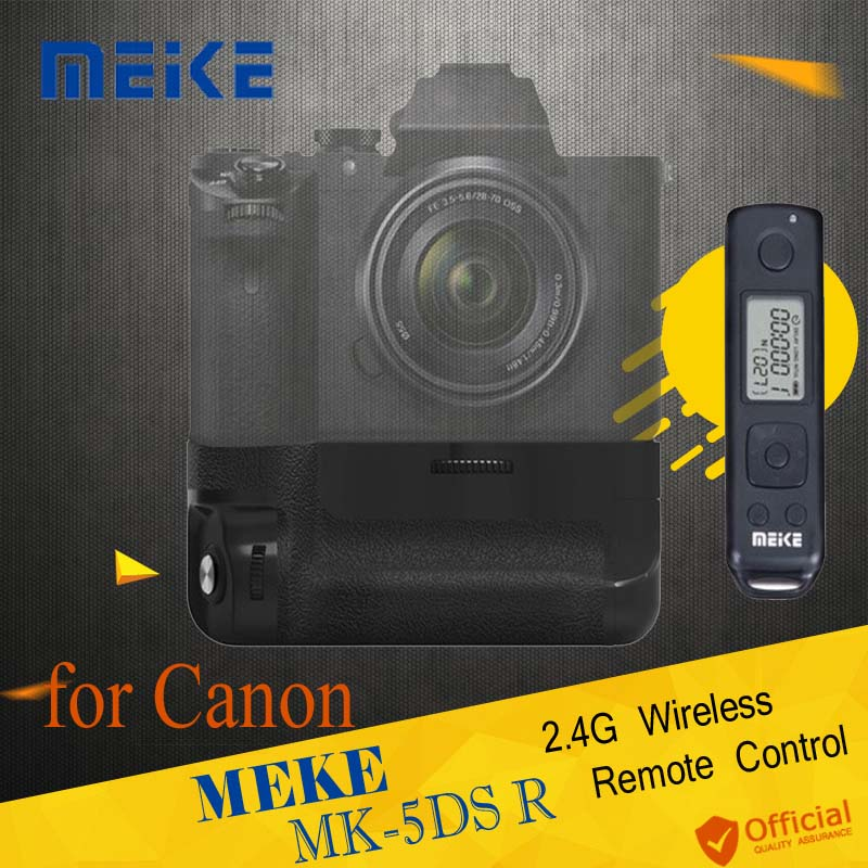MEIKE MK-5DS R 2.4G Wireless Remote Control Battery Grip Holder for Canon 5D Mark III 5DS 5DS R Cameras AS BG-E11 Accessories meike mk dr750 built in 2 4g wireless control battery grip for nikon d750 as mb d16 wireless remote