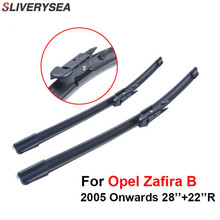 цена на Pair Windscreen Wiper Blade For Opel Zafira B 2005 Onwards,Fit Windshield Natural Rubber Wipers Arm,Auto Car Accessories