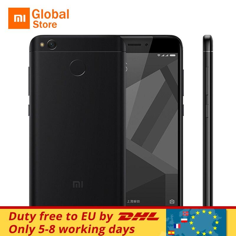 """Официальный Глобальный Встроенная память Xiaomi Redmi 4X мобильный телефон 3 ГБ Оперативная память 32 ГБ Встроенная память 4 x Snapdragon 435 Octa core 5.0 """"13.0MP 4100 мАч смартфон"""