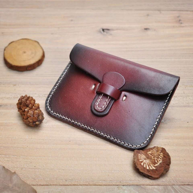 Fashion Brand Top Quality Genuine Leather Female Credit Card ID Holders Wallet Bolt Close Handmade Design Ultra Slim Pocket Bag