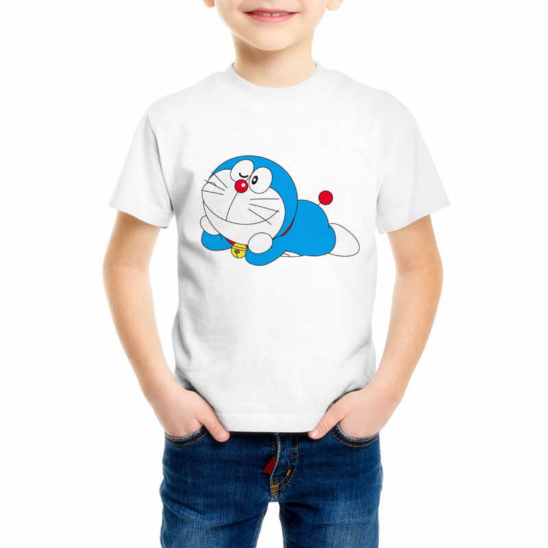 New Doraemon T Shirt Children's Japan Anime T-shirt Summer Short Sleeve Doraemon Boy And Girl T Shirts Tops Tee C10-3