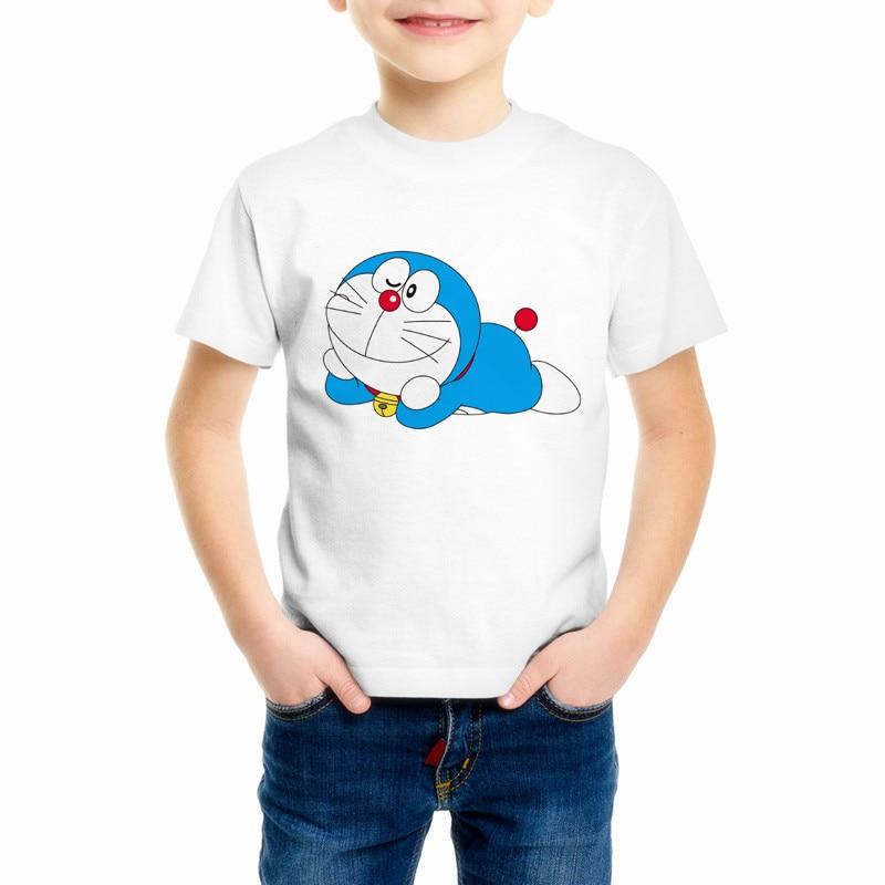 New Doraemon T Shirt Childrens Japan Anime T-shirt Summer Short Sleeve Doraemon Boy And Girl T Shirts Tops Tee C10-3New Doraemon T Shirt Childrens Japan Anime T-shirt Summer Short Sleeve Doraemon Boy And Girl T Shirts Tops Tee C10-3