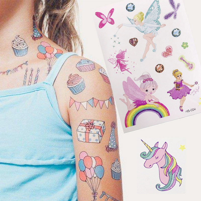 20pcs Cartoon Arm Waterproof Temporary Small Tattoo Stickers For Kids Children Fake Tattoo Sticker For DIY Templates 148*105mm