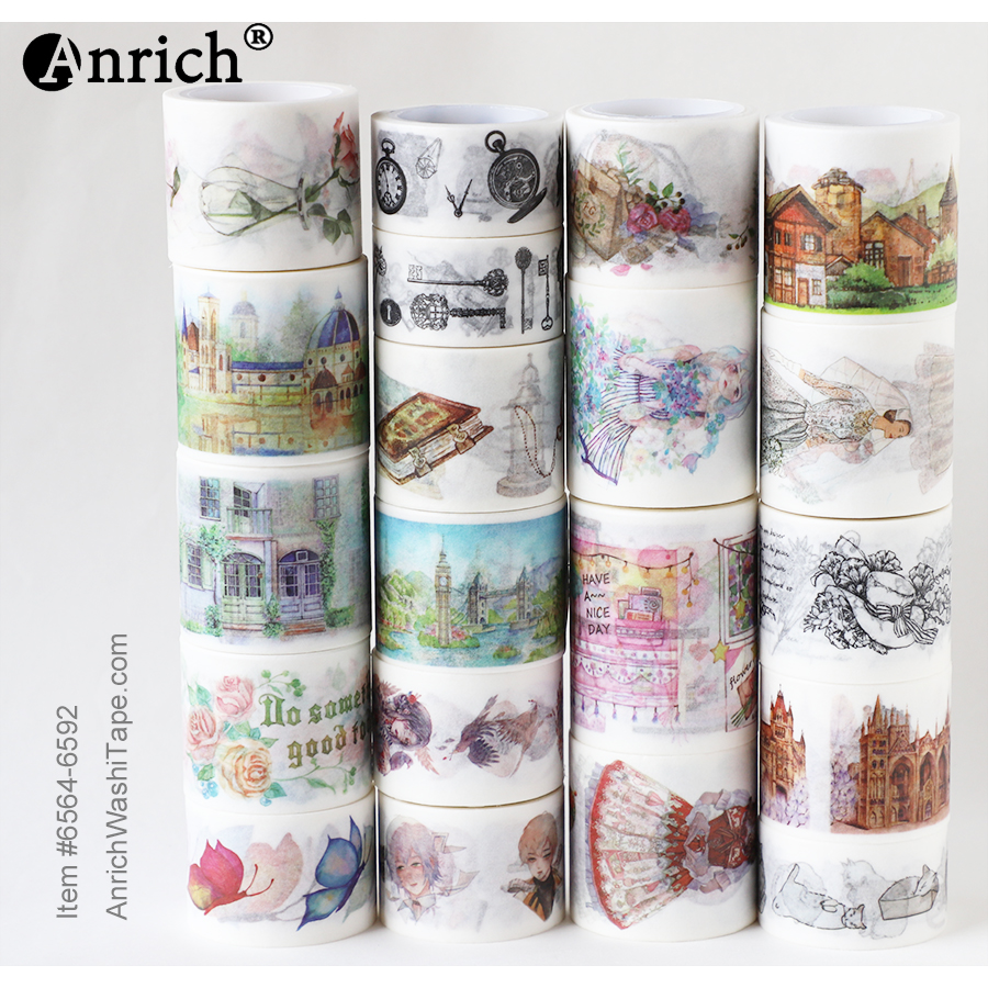 Free Shipping Washi Tape,Anrich Washi Tape #6564-6592,cloud,butterfly,ocean,colorful,customizable