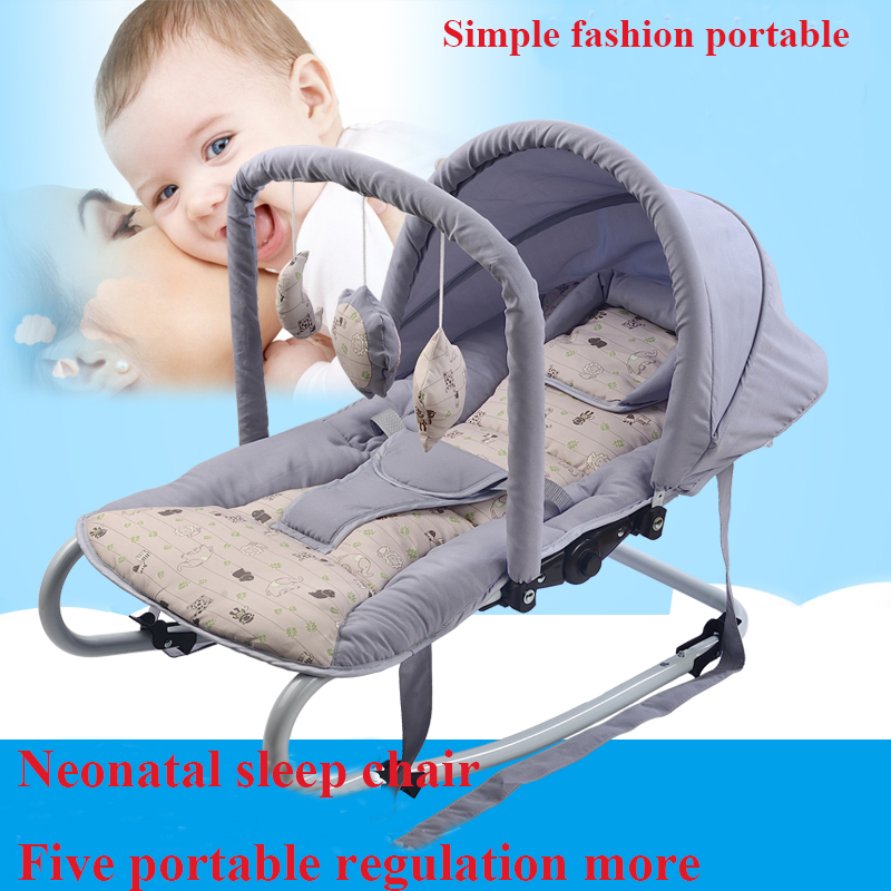 Portable baby rocking chair cradle baby chair reassure the rocking chair swing cradle bed concentretor chaise lounge dining chair the lounge chair creative cafe chair