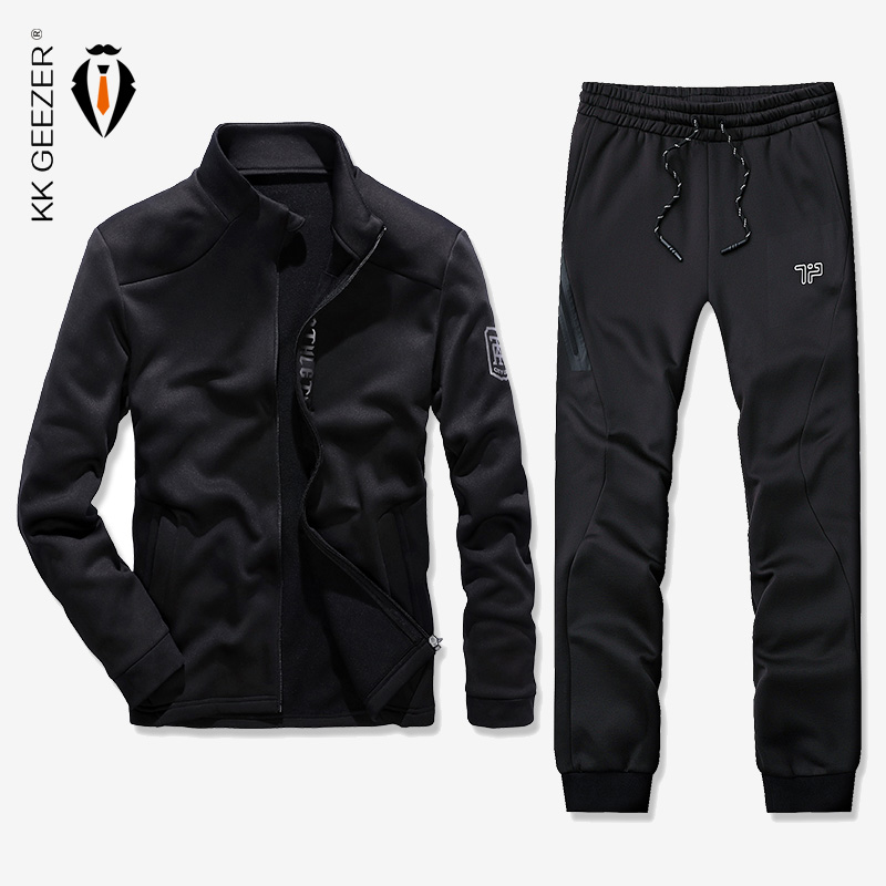 Männer Jacke Sets Sweatshirts Hohe Qualität Pullover Mantel Männer Luxus Slim Fit Dünne Retro Mantel Männer Mode Sport (jacken + hosen)-in Herren-Sets aus Herrenbekleidung bei  Gruppe 1